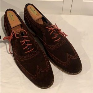 Cole Haan Brown Suede Oxford
